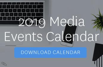 2019 media events calendar