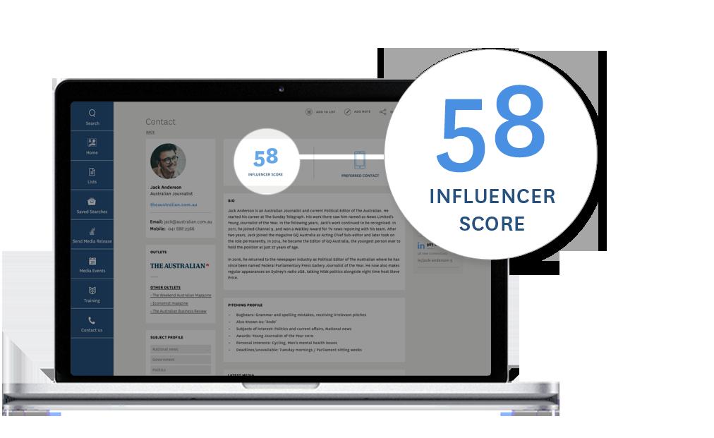 Media Database - Influencer Score