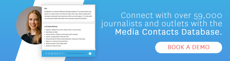Media Contacts Database - Request a Demo